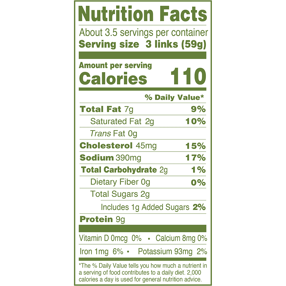 Products - Breakfast Sausage - Natural